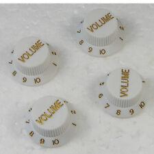 white Guitars Strat Knob 3-Volume Control Knobs For Fender Stratocaster