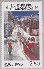 ST. Pierre Miquelon SPM 1993 669 596 Christmas Natale religione painting MNH
