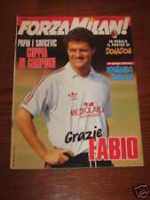 FORZA MILAN 1992/5 FABIO CAPELLO SAVICEVIC PAPIN POSTER DONADONI ROBERTO