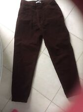 Ladies Brown cotton trousers size 14 ,27in length
