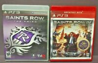 Saints Row Third + IV National Treasures  Game Lot PS3 Sony Playstation 3 Tested