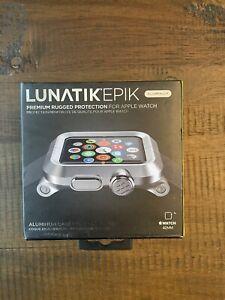 LUNATIK EPIK-013 Silver Aluminum Case and Metal Link Band for Apple Watch 42mm