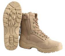 Tactical Boots Zipper khaki, Springerstiefel, BW  -NEU-