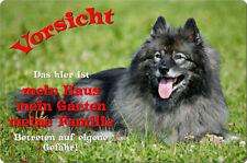 WOLFSSPITZ - A4 Metall Warnschild Alu Hundeschild SCHILD Türschild - WFS 03 T1