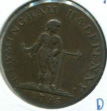 Conder Token - 1793 Warwickshire 1/2 Penny - Birmingham - D & H # 50 - Lot # 365