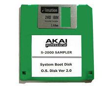 Akai S 2000 BOOT DISK V 2.0 Operating System Startup Disk Akai S-2000 FLOPPY NEW