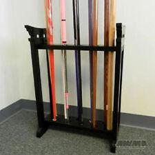 Black Wooden Jo 10 Bo Staff Display  - martial arts weapons wood floor rack