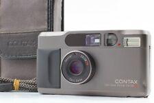 【EX+5 w/CASE】CONTAX T2D Titan Black 35mm Point & Shoot Camera #Fedex# From JAPAN
