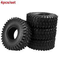 "1.9"" 120mm Rubber Felgen Reifen Tires Set Für RC 1:10 Axial SCX10 D90 TRX-4 Cars"