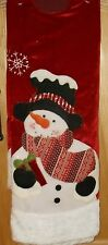 """Trim A Home 48"""" Christmas Tree Skirt Red with Snowman White Border"""