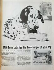 Lot of 2 Vintage 1959 Milk Bone Dog Biscuits  Ads Free Shipping