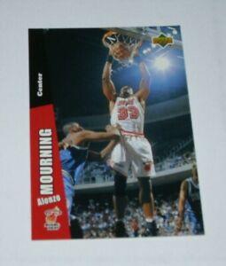 Upper Deck Folz Mini Card Basketball 1997 Aonzo Mourning NBA #42 Rare Card