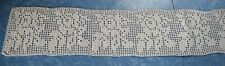 7841 2 yds Vintage filet crochet trim, rose design, beautiful