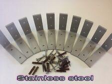Heavy duty Stainless Steel Shelf Brackets 100mm x 100mm 4 inch x 4 inch
