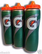 3 PACK of 32oz Insulated Gatorade Water Bottles with Gator Skin Grip- BRAND NEW!