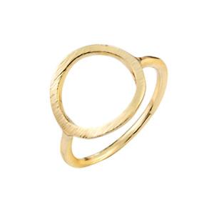 Gold Circle Eternity Round Band Statement Stacking Minimal Ring. Boho Jewellery