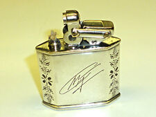 "KW (KARL WIEDEN) ""MODELL 680"" SEMI-AUTOMATIC LIGHTER W. SILVER CASE - GERMANY"