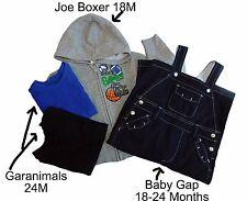 Lot Baby Gap Overalls 2 Granimal T-Shirt Joe Boxer Hoodie Infant Size 18 24 M