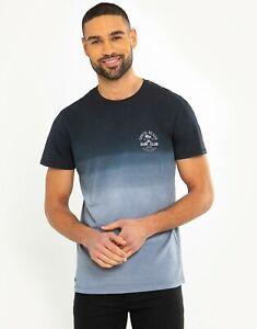 Men's short sleeve Tie Dye Cotton Double Fade Gradient Colour T-shirt Top