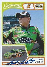 MARK MARTIN AUTOGRAPHED 2011 WHEELS ELEMENT RACING NASCAR PHOTO TRADING CARD #22