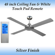 Revolve 48 inch Ceiling Fan in Silver and White Touch Pad Remote
