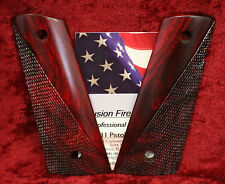 1911 Grip Full Size Red Cocobolo Mag-Well Ranger Cut No Ambi Cut