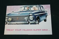 Hillman Super Minx Accessories Sales Brochure & Price List Dated 1964