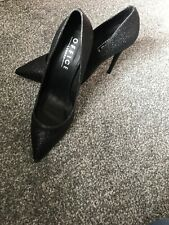 Office London Sparkly Black Court Stilettos - 7/40 - Ideal For Christmas Party
