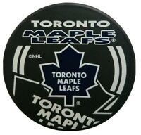 TORONTO MAPLE LEAFS NHL INGLASCO OFFICIAL HOCKEY PUCK SHADOW LOGO MADE- SLOVAKIA