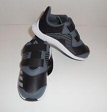 New Boys Size 9 Toddler Adidas FortaRun CF I Sneakers Shoes Black Grey BA9465