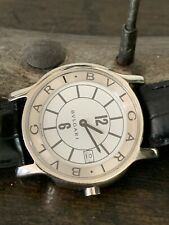bulgari watch, Stainless Steel Solo. Extremely Rare Dealer Edition Only!