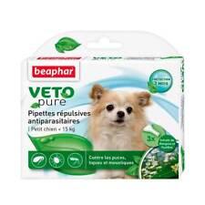Pipetas Repelentes Anti Pulgas, Garrapatas y Mosquitos Perros Pequeños (<15kg)