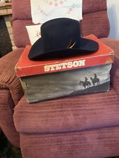 Genuine Stetson  1970s Cowboy Hat Boxed -Size 7 1/8th With Bolo Ties And Cover