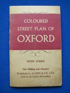 Alden & Co Ltd - Coloured Street Map - Oxford   1950's