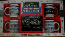 Orange County Chopper New York Collector's Edition 4 Motorcycle Coffee Mugs Set