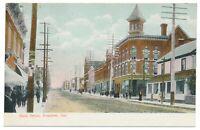 Main Street Renfrew ON Ontario Streetview Nerlich & Co. Postcard c. 1908