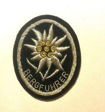 WWII GERMAN WAFFEN ELITE BERGFUHRER EDELWEISS 0N BLACK
