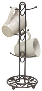 Coffee Mug Tree Holder 6 Cup Storage Rack Organizer Stand Kitchen Tea Key Hanger