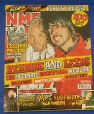 Foo fighters dave grolh taylor hawkins signed 2005 nme magazine w/coa