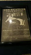 The Beatles Love Songs Rare Original Promo Ad Framed!
