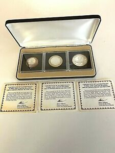 SET OF 3 TURKS & CAICOS LORD MOUNTBATTEN SILVER CROWNS