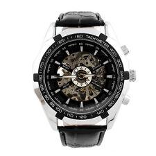 Winner Herrenuhr Luxus Skeleton Schwarz Automatikuhr Edelstahl Armbanduhr Watch