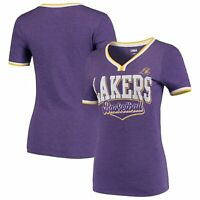 Women's 5th & Ocean by New Era Purple Los Angeles Lakers Basketball V-Neck