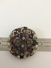 ANTIQUE  ENAMEL BELT BUCKLE