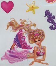 Barbie The Pearl Mermaid Princess Temporary Tattoo Girl's Best Friend 15xtattoos