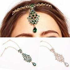 Nice Women Sweet Drop Forehead Head Piece Hairpin Headband Bridal Jewelry