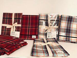 Juliska Tea Towel & Apron Alpine,Tartan Plaid - Christmas Holidays NWT, U pick