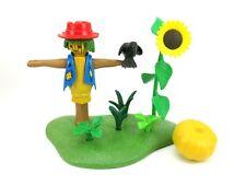 PLAYMOBIL~6211~NEW~Scarecrow~Sunflower~Crow~Pumpkin~Fall~Harvest~Retired~HTF