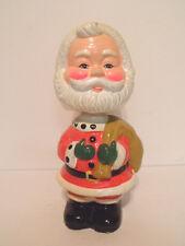 1950s Chalk Ware Bobble Head Santa Bank