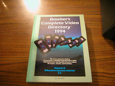 1994 Bowker's Complete Video Directory Volume 3: Education/Special Interest